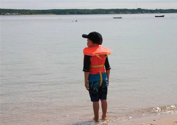 Boy overlooking Harbor