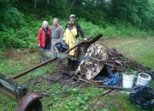 Creek Clean-up Debris