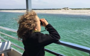 Barnstable Harbor Ecotours Kid with Binoculars