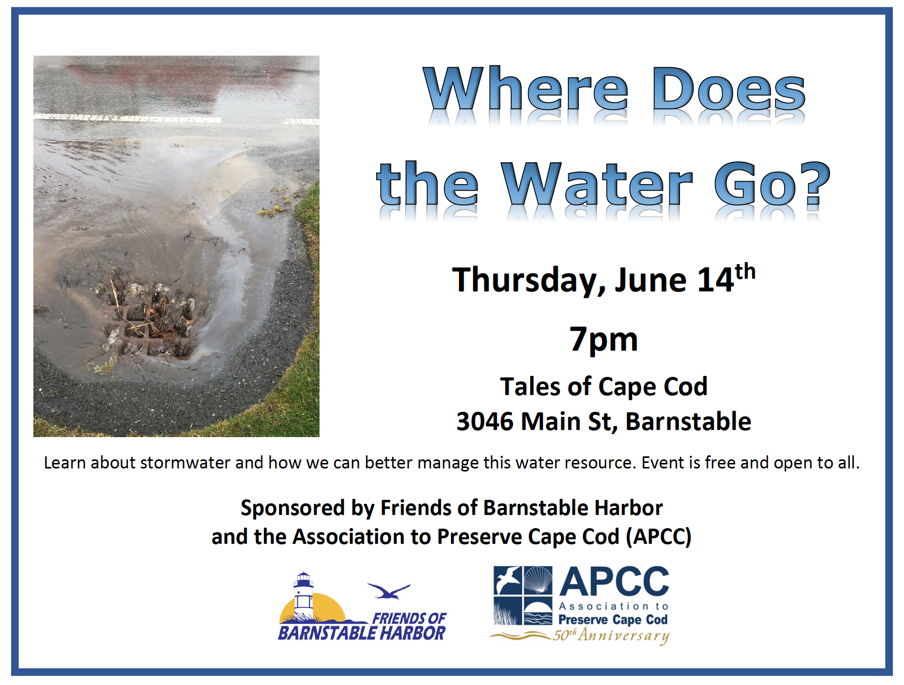 Where Does the Water Go Event