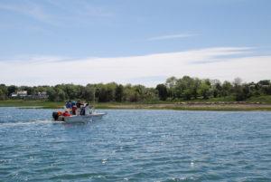 Benthic Habitat Mapping Ponton Boat