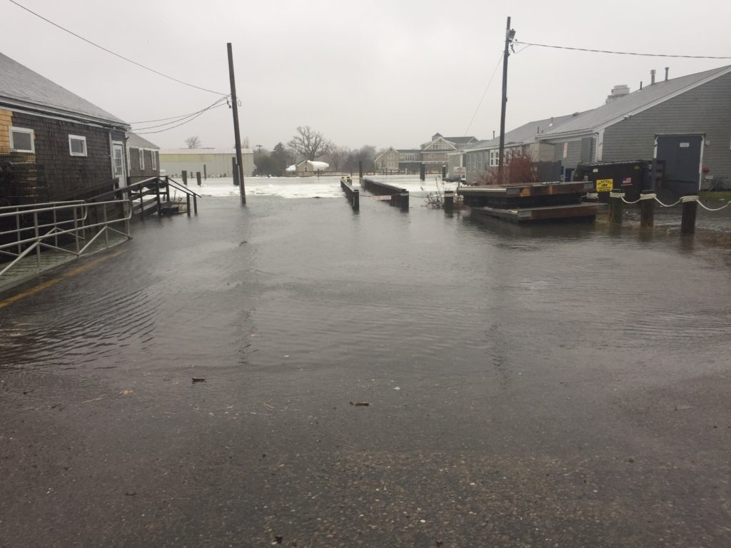 Boat Ramp overwhelmed in 2018 January northeaster