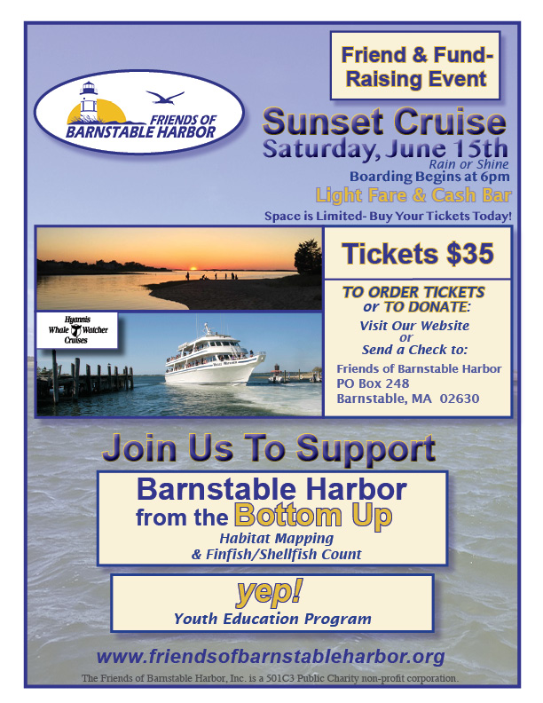 Poster for Sunset Cruise Friend and Fund- Raising Event