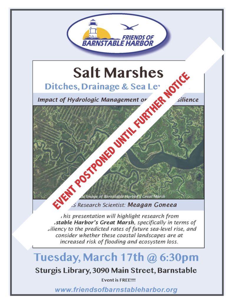 Marsh Talk Event Postponed Poster